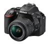 Nikon D5500 SLR-Digitalkamera (24 Megapixel, 8,1 cm (3,2 Zoll) Touchscreen-Display, bildstabilisiert, Full-HD-Video, Wi-Fi) Kit inkl. 18-55mm VR II Objektiv schwarz - 1